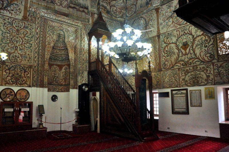 Wnętrze meczetu.