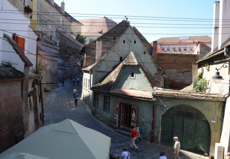Stare dachy Sybinu.