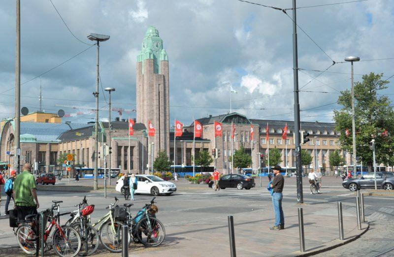 Główny dworzec kolejowy w Helsinkach. Taki rosyjski nieco.