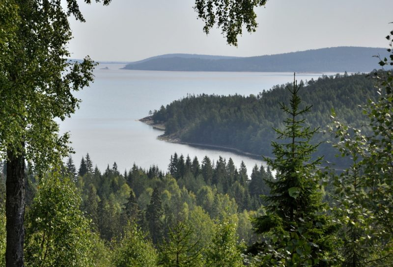 """Skuleskogen, tzw. """"Wysokie Wybrzeże""""."""